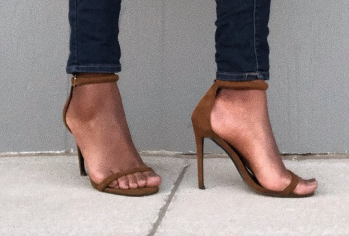 Rounded Strap Barely There Sandal Green - Missguided