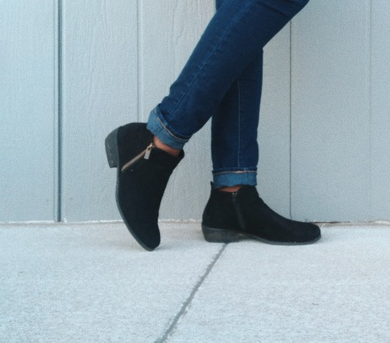 Wander My Way Black Suede Ankle Booties - Lulu*s